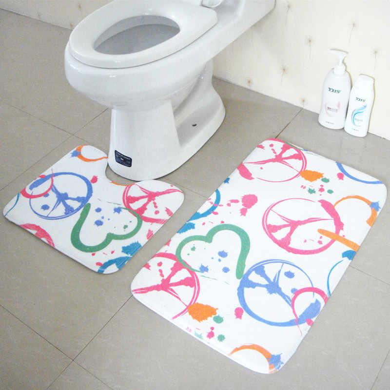 Beibehang High-rise soggiorno camera da letto porta tappeto bagno tappetini antiscivolo assorbente wc cuscini 1 set 2 pz a forma di U