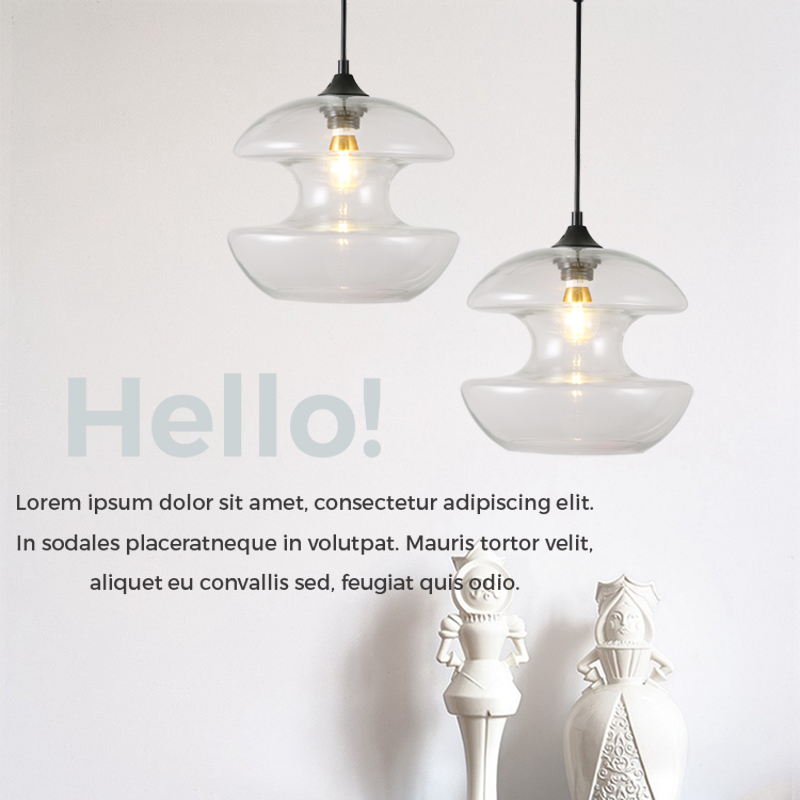 Nordic Pendant Lights Globe Chrome Lamp Glass Ball Pendant Lamp Lustre Suspension Kitchen Light Fixture E27 Home Lighting
