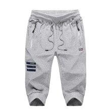 140 кг можно носить 7XL 8XL 9XL мужские спортивные штаны 3/4 на молнии карман Фитнес Спортивные штаны новые хлопковые дышащие спортивные штаны для бега