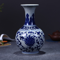 Jingdezhen ceramics antique porcelain vase for modern Chinese style living room decoration decoration technology