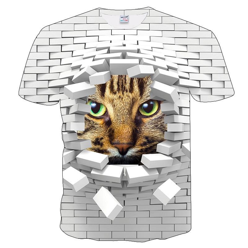 Hello Kitty Cat 3D Printed tshirt Men harajuku Leisure O-Neck Short Sleeves T-shirts Women lovely Cat summer 3D tshirt Tops Tee