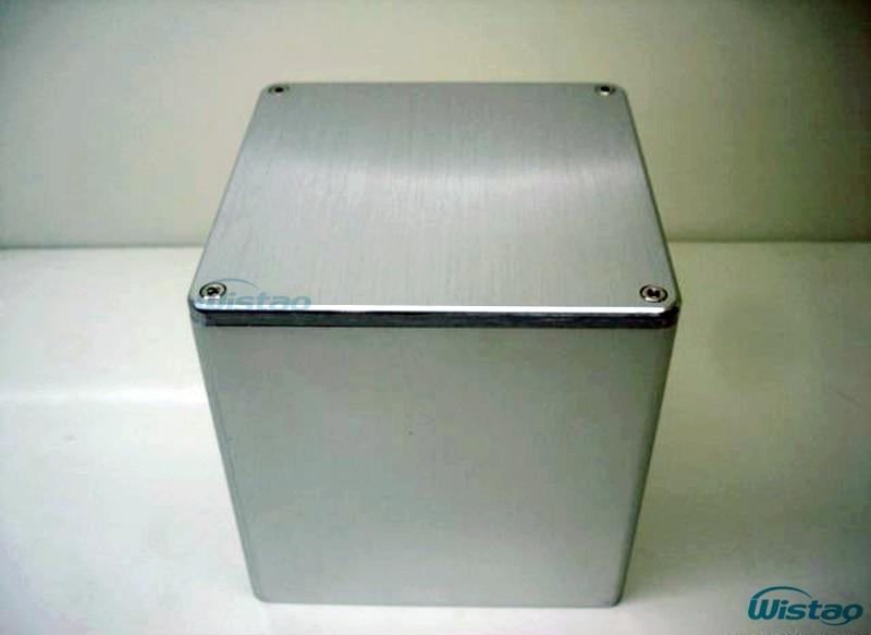 IWISTAO 1 kpl muuntajan kansi 110X110X116 Harjattu koko alumiinilähtömuuntajan kannet putkisammuttimelle HIFI Audio DIY