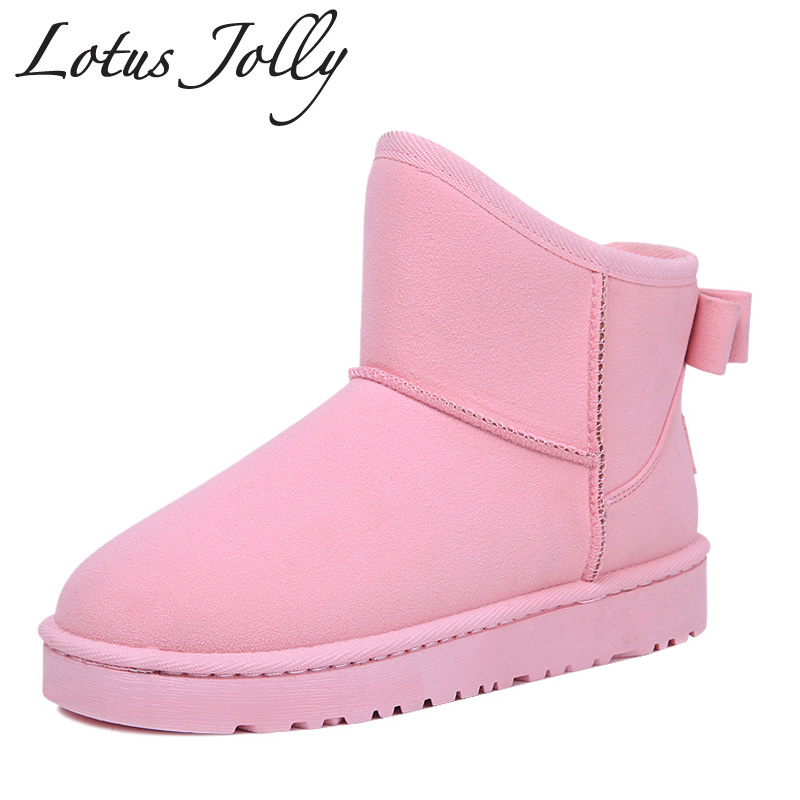 Winter Boots Women Fashion Wear Snow Boots Girl Thick Fur Warm Boots 2017 Fabric Brand Winter Cotton Shoes Botas Mujer