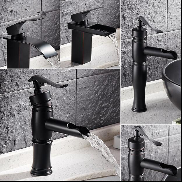 Free Shipping Basin Faucet ORB finished sink faucet Black bathroom Water Mixer hot and cold sink wallfall faucet,basin tap mixerFree Shipping Basin Faucet ORB finished sink faucet Black bathroom Water Mixer hot and cold sink wallfall faucet,basin tap mixer