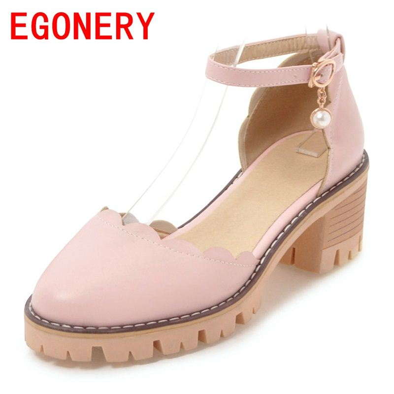 EGONERY shoes woman 2018 women casual sandals pointed closed toe 6 cm low heel genuine leather summer shoes platform shoes mmnun 2017 boys sandals genuine leather children sandals closed toe sandals for little and big sport kids summer shoes size26 31