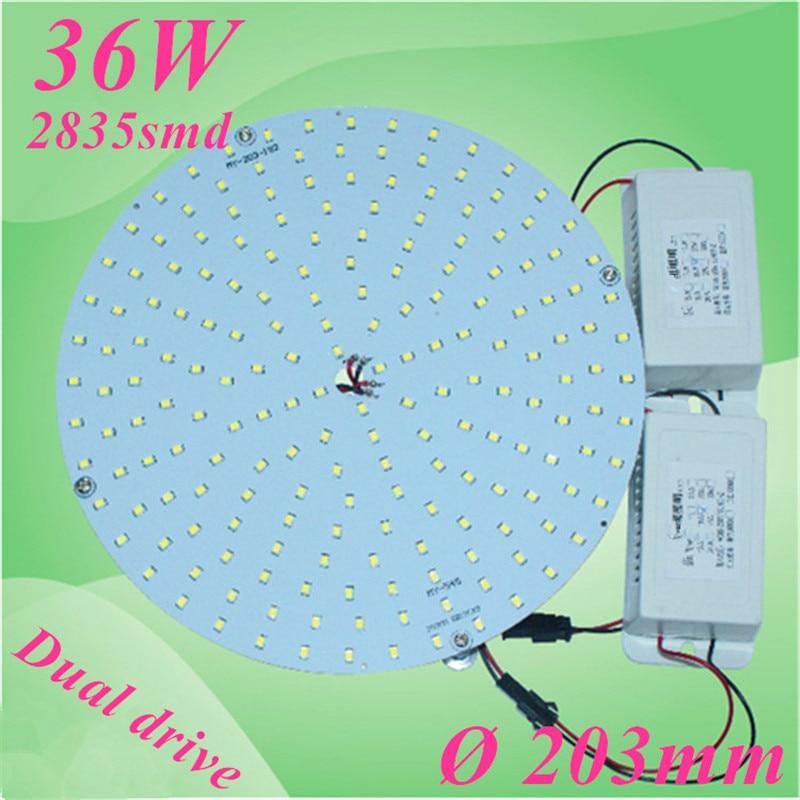 LED adaptée plafonniers conseil 2D lampe à LED LED disque plaque lumières 203mm 36 W remplacer 2D CFL lampes avec 2 pièces lecteur de puissance