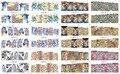 BN085-096 12 Sheets/Lot Fashion 3d Pattern Nail Sticker Water Transfer Tiger Leopard Animal Full Sticker for Women Full Tips