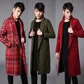 2017 grandes Metrosexual hombre abrigo de invierno abrigos largos de Europa y América pasarela de París estilista casual