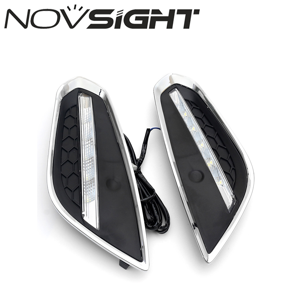 New Daytime Running Light Car Auto LED DRL Daylight Driving Fog Lamp White For VOLVO S60 2014 1 pair 12 led strip flexible snake style eagle eye car drl daytime running light driving daylight safety day fog lamp