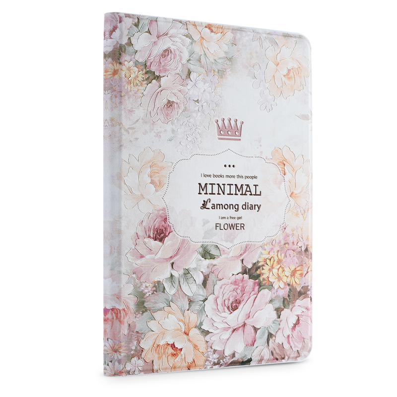Gview Case For Ipad Mini 4 - Embossed Printing PU Leather Flip Smart Cover Stand in Luxury Vintage Floral Design flip left and right stand pu leather case cover for blu vivo air