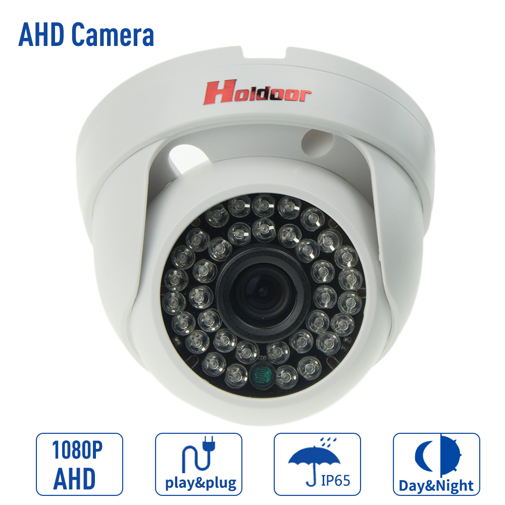 Security Analog HD 2MP 1080P AHD Camera Indoor IR 15m IR-Cut Filter Dome CCTV 2.0MP AHD Camera Work For AHD DVR hd 1mp ahd security cctv camera 720p indoor dome ir cut 48leds night vision ir color 1080p lens