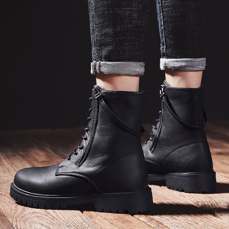 Martin bottes haute aide chaussures bottes en plein air Sport loisirs temps chaussures en cuir hommes confortable respirant haute qualité chaussures de sécurité - 5