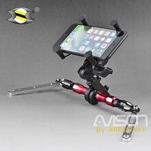 For XMAX X-MAX 250 300 NMAX N-MAX Smartphone Mobile Phone Bracket GPS Plate Mirror Bracket  Adjustable