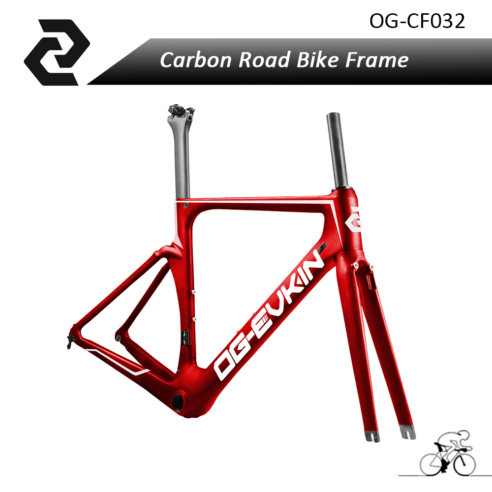 2017 Latest Full Carbon Road Bike Frameset Aero Bicycles Frame Tapered Headtube UD Glossy Red Di2 BB86 for Sport Bicycle Racing aero bb86 full carbon frame t800 full carbon fiber road bicycle frame high quality seraph carbon bike frame wholesale frame