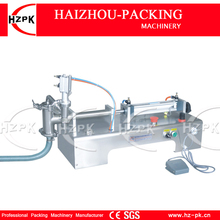 Semi-automatic Liquid Filler Stainless Steel Horizontal Single Head Liquid Filling Machine  For Shampoo,Cosmetic,Juice G1WYD500 horizontal one nozzle piston liquid filling machine liquid filler for milk oil juice perfume 100 1000ml