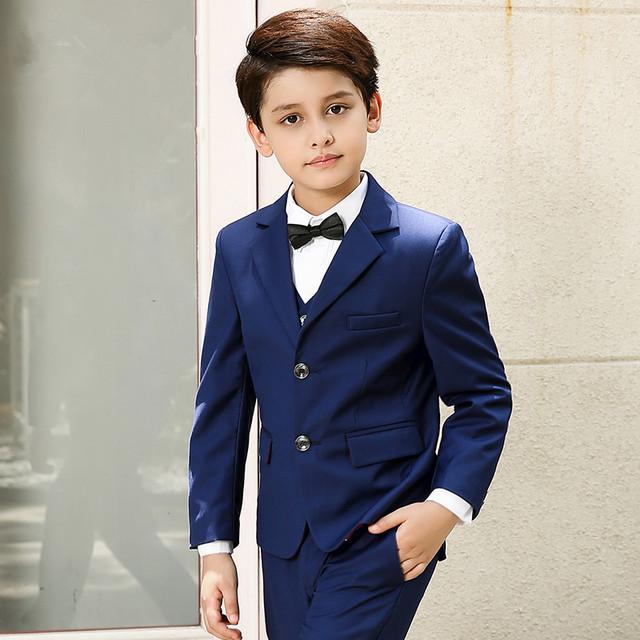 Online Shop Boys suits for weddings Blue Kids Prom Suits Wedding ...