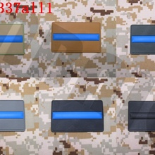 3D ПВХ патч тонкая Голубая линия полиция спецназ Резиновый патч