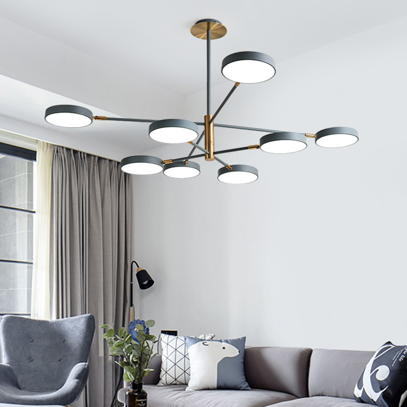 Modern 3 4 6 8 Heads Parlor Led Chandeliers Bedroom Pendant Lamp Restaurant Hanglamp Home Loft Deco Pipe Pendant Nordic Lamp in Pendant Lights from Lights Lighting