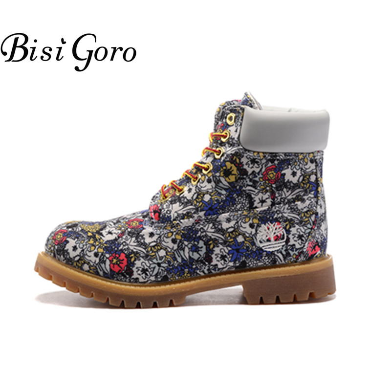 BISI GORO Women Boots Shoes 2017 Flat Lace Up Ankle Boots for Women Autumn Short Martin Boots Female Fashion Platform Boots front lace up casual ankle boots autumn vintage brown new booties flat genuine leather suede shoes round toe fall female fashion