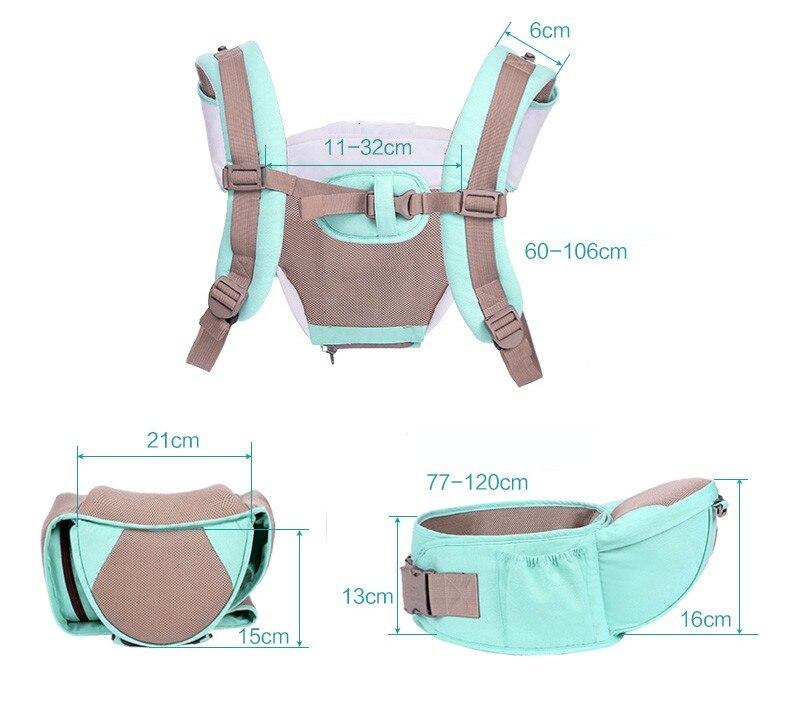 Nouveau multi-fonction doux confortable respirant porte-bébé fronde hipseat enfant en bas âge sac à dos enfants sacs à dos garçons filles fronde - 6