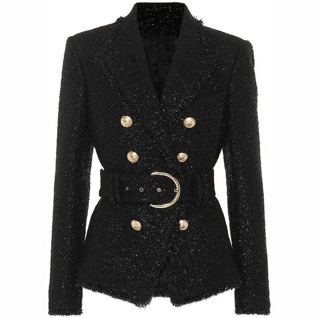 Blazer à paillettes argentées pour femme, blouson, nouvelle mode automne hiver, 2020