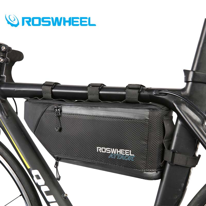 Roswheel Bicycle Bags MTB Road Mountain Bike Top Tube Triangle Bag Full Waterproof High Quality Storage Bag Cyling Saddle Bags baci колготки черные с нежной узором размер универсальный xs l