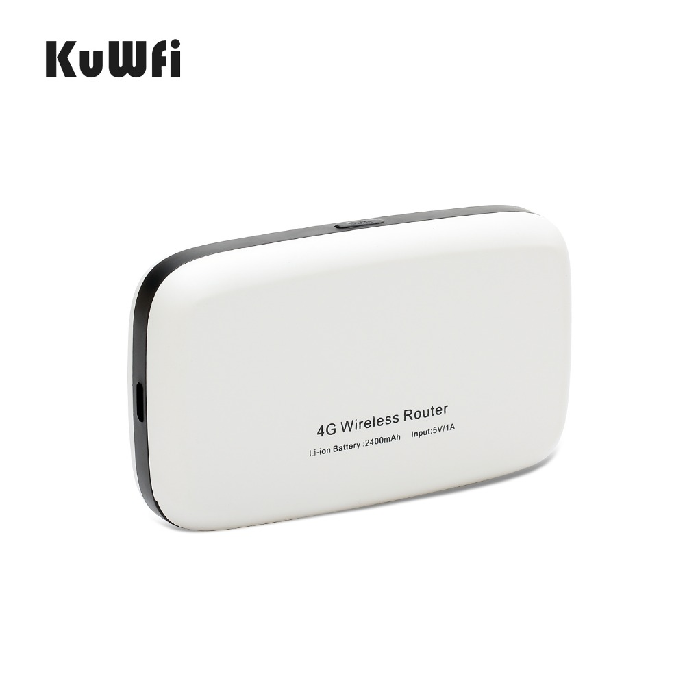 Image 3 - KuWfi Unlocked 150Mbps 3G 4G LTE Wifi Router Mobile Wifi Hotspot 2400mAH Battery With SIM Card Slot LCD Display Up To 10 Users-in 3G/4G Routers from Computer & Office
