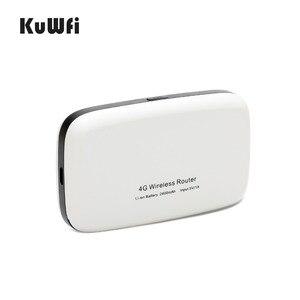 Image 3 - Kuwfi desbloqueado 150mbps 3g 4g lte wifi roteador móvel wifi hotspot 2400mah bateria com slot para cartão sim display lcd até 10 usuários