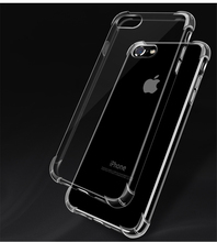 Crystal Clear Shock Absorption Flexible Silicone TPU Case Anti-Scratch Slim Protective Cover For iPhone