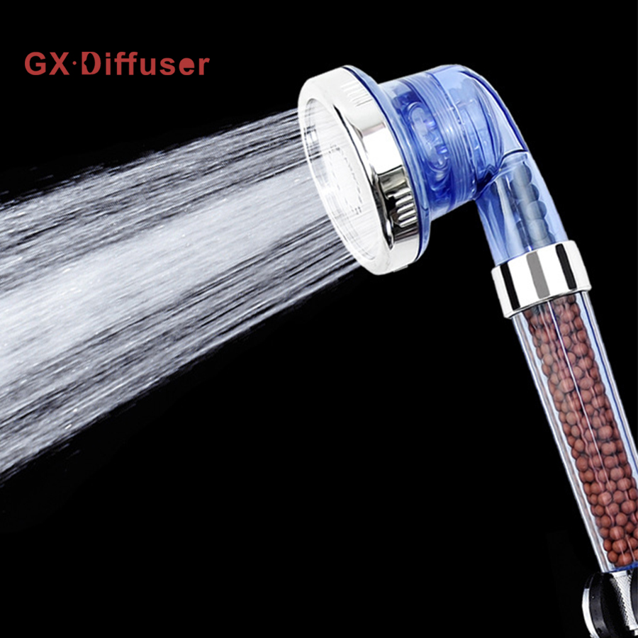 GX Diffusor Badezimmer Duschkopf Handheld Gesunde Negative Ionen Anion SPA Gefiltert Einstellbar Bad Wasserspar Mit Drei Modus