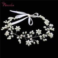 Joyería de cabeza para mujer Noivas hecha a mano Retro imitación perla boda accesorios para el cabello cuentas de boda de alta calidad RE287