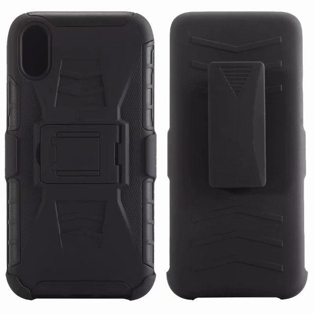 Clip Belt Case for Apple iPhone X Hybrid 3 in 1 Tough Dual A
