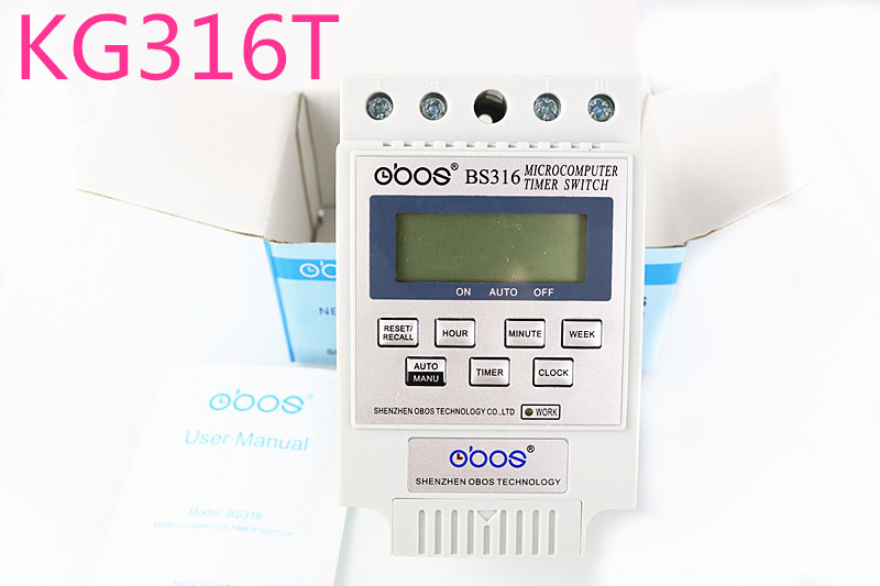 New KG316T CAC 220V 25A Din Rail Digital Timer Switch BS316 free shipping 1pcs kg316t ac 220v 25a din rail lcd digital programmable electronic timer switch digital timer controller bs316 page 7