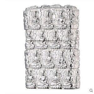 Image 4 - Luxury Thousand Buddhas Lighter Men Gadgets Kerosene Oil 3D Petrol Lighter Gasoline Cigarette Accessories Retro Relief Lighter