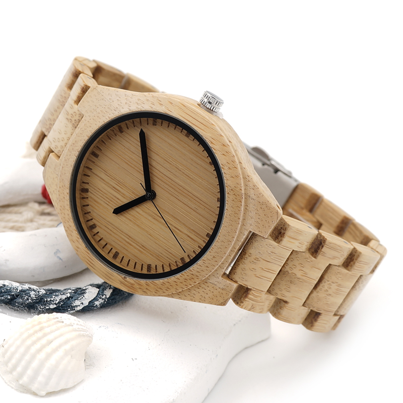 2017 BOBO BIRD Watch Men Luxury Brand Bamboo Wristwatches Male Wooden Strap Wood Watches Gifts Clock Relogio masculino C-G27