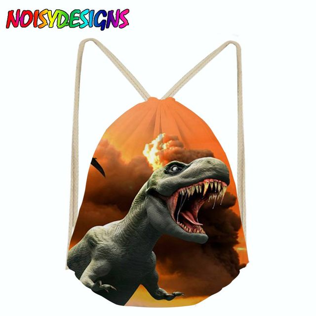 a51ccf08a5 Dinosaurs Jurassic World Drawstring Bag Sack Sport Gym Travel Outdoor  Backpack Boys girls bags for shoes Drawstring School bag