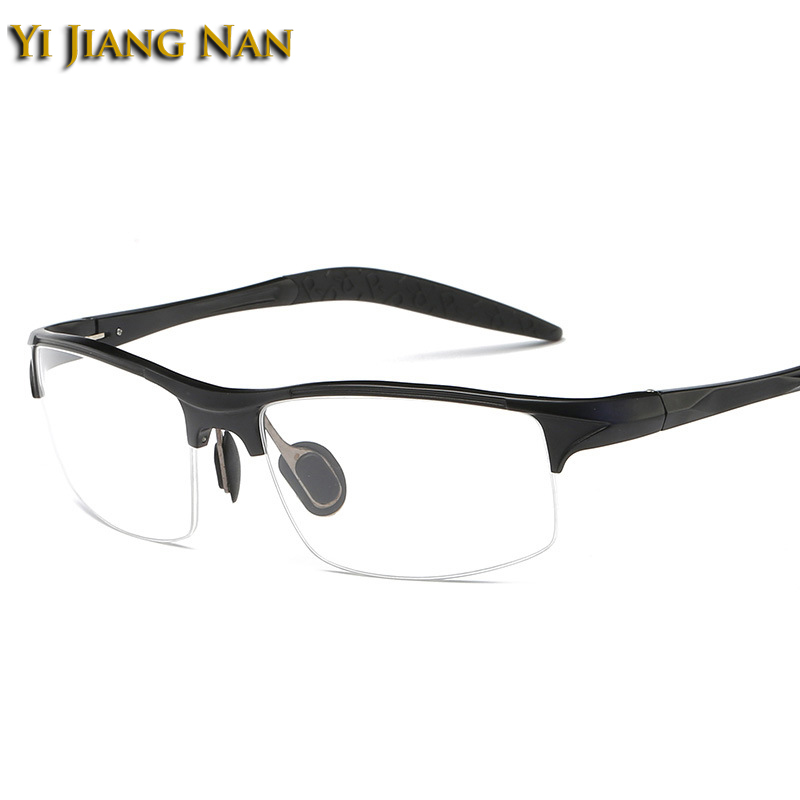 Yi Jiang Nan Brand Men Quality Semi Frame Glasses Fashion Sport Sunglasses Frame Eyeglasses for Men Prescription Glasses Frames(China)