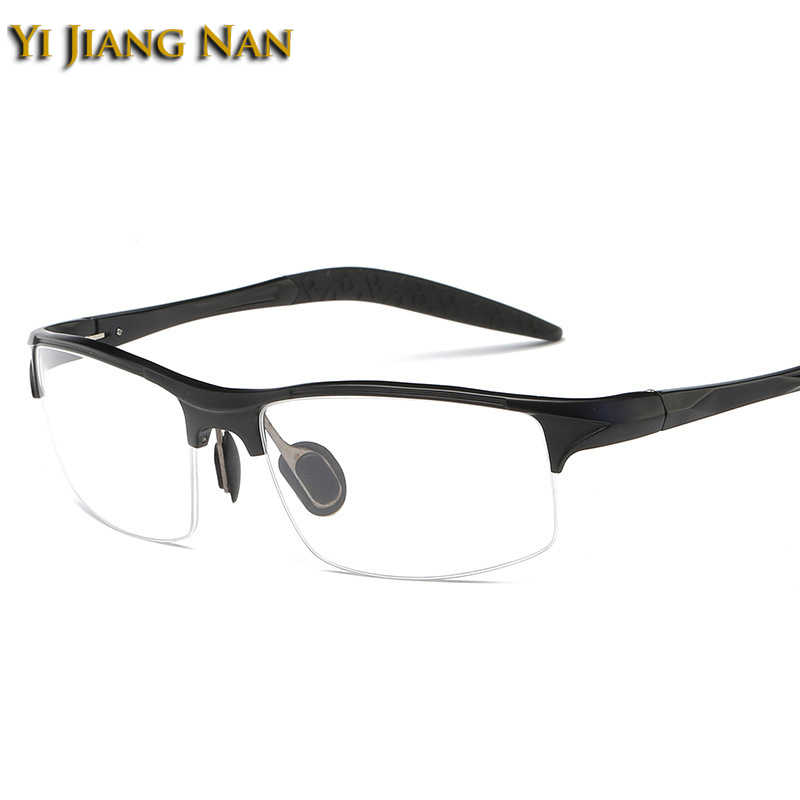 Yi Jiang Nan Brand Men Quality Semi Frame Glasses Fashion Sport Sunglasses Frame Eyeglasses for Men Prescription Glasses Frames