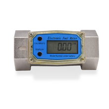 Digital Flowmeter K24 Electronic Liquid Turbine Meter Electronic Diesel Flowmeter 1.5 Inches Fuel Oil Flow Meter 38-380L/MIN