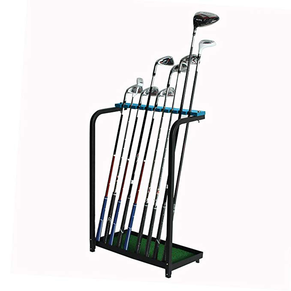 CRESTGOLF Golf Club Display Stand Rack Shelf Golf Club Organizers Training Aids