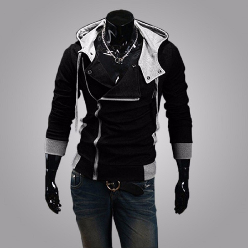 New Fashion Casual Men Hoodies Sweatshirt Male Tracksuit Hooded Jacket Casual Sports Male Hooded Jackets Moleton Assassins Creed