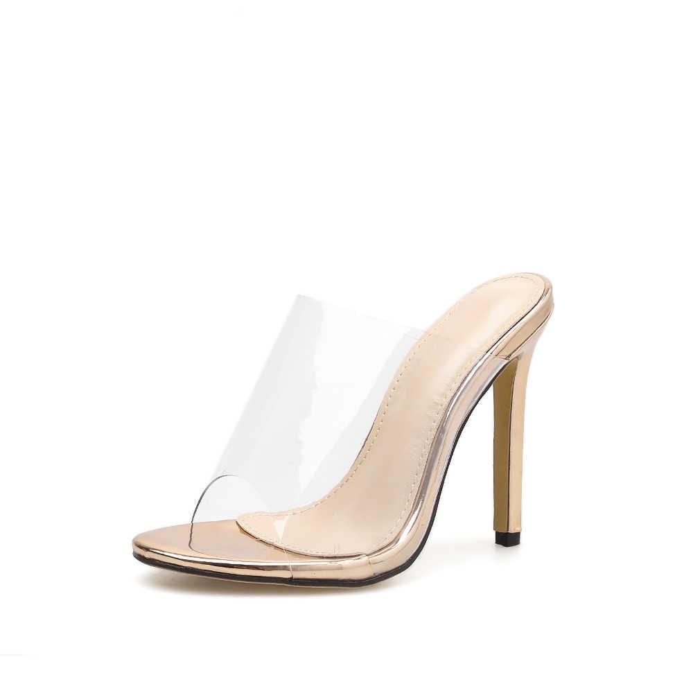 Women's Clear Peep Toe Thin High Heels