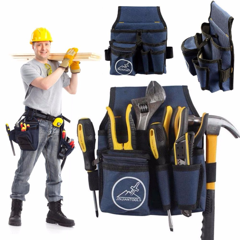 Waist Bag Electrician Pouch Durable For Storage Tools Holder Carry Hammer New ballistic nylon tools bag for tools storage 280x245x180mm