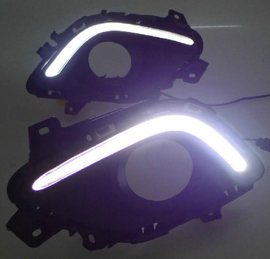 LIGHTS GUIDE LED DRL Driving Daytime Running Day Front Fog for mazda 6 ATENZA 2014 in Interior Mouldings from Automobiles Motorcycles