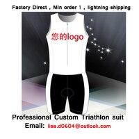 Envío gratis Personalizada traje de Triatlón, 100% Lycra, ocultos cremallera parcial, ciclismo traje de piel, Running juego de la piel