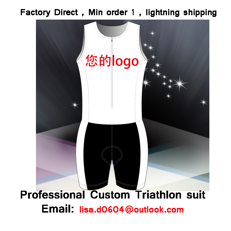 Free shipping Customized Triathlon suit, 100% Lycra, hidden partial zipper, Cycling skin suit,Running skin suit