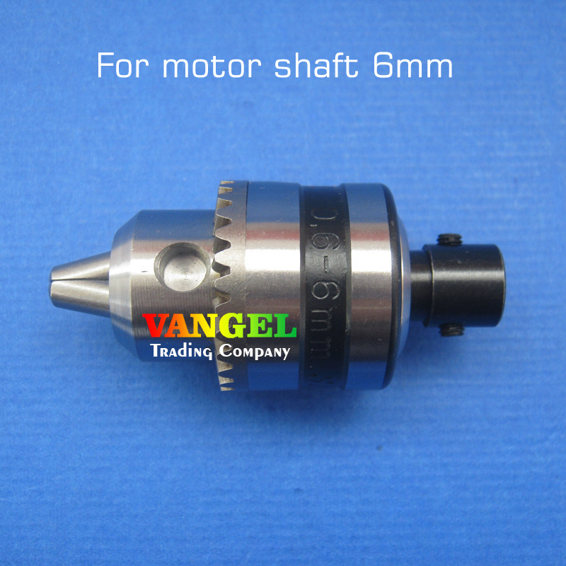 FitSain--6mm-B10 mini drill chuck 0.6-6mm B10 Used for motor shaft diameter 6mm for mini pcb drill dremel driver Press tool fitsain ball bearing 775 motor 24v 7000rpm mini pcb hand drill press nail b10 drill chuck 0 6 6mm electric drill