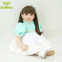 Reborn dolls adorable Princess toddler girl baby alive doll 2460cm vinyl silicone reborn baby dolls for bebe child gift