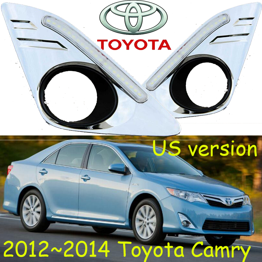 US Version! car-styling,2012~2014 Camry daytime light,led,2pcs/set,Camry fog light;car-covers,chrome, Camry car styling camry