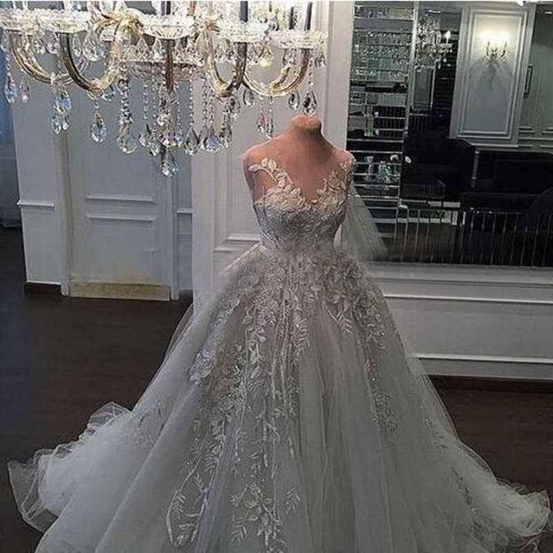 Wedding Dresses 2018 Couture Ball Gowns Elegant Royal: Aliexpress.com : Buy Luxury Lace Applique White Wedding